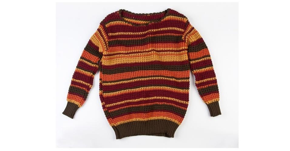 Blusa de tricô com fios coloridos; R$ 279, da Enjoy