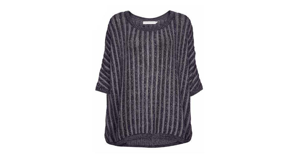 Blusa de tricô com fios metalizados; R$ 746, da Cris Barros