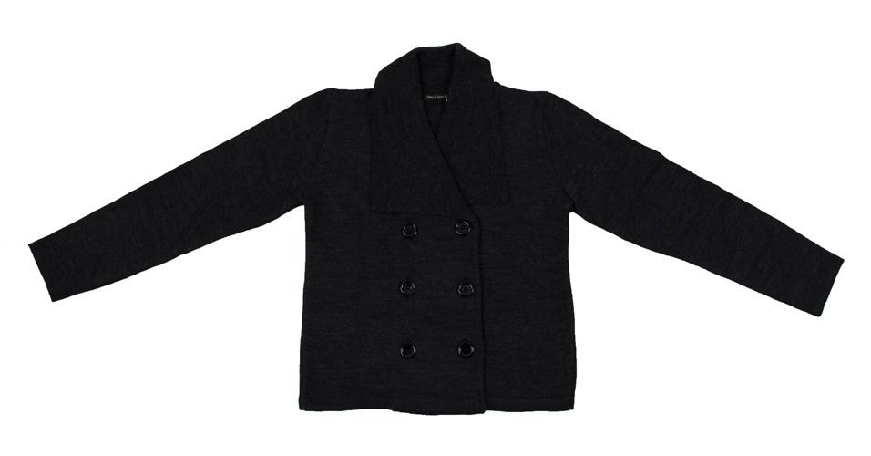 Casaco de tricô com botões frontais; da Cobra D'água