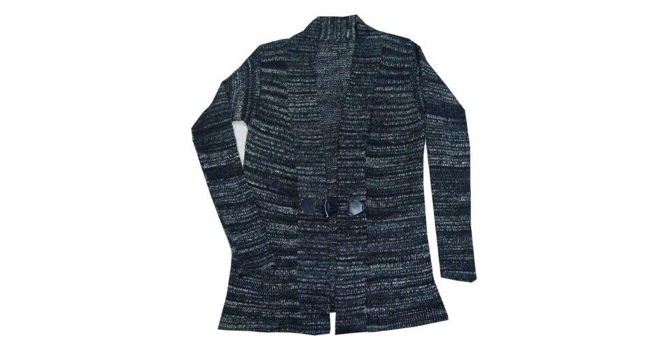 Casaco de tricô com fios mesclados; da Mary Zaide