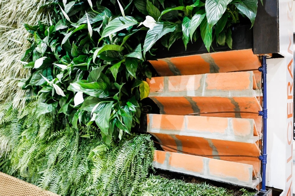 jardim vertical tijolo:jardim vertical – green wall ceramic