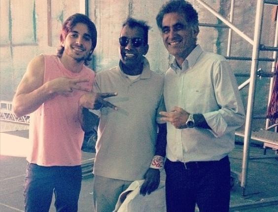 13.mar.2013 -  Fiuk anuncia nova parceria com Jorge Ben Jor