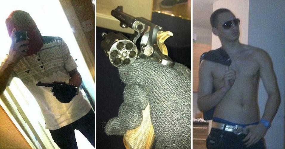 14.mar.2013 - Um britânico de 19 anos foi sentenciado a sete anos de prisão em Salford, Reino Unido, depois de publicar fotos de si mesmo posando com armas no Facebook, segundo informações do ?Daily Mail?. Marcel Maden foi preso em outubro de 2012; em sua casa, a polícia encontrou um arsenal de armas -- algumas delas proibidas para uso por civis -- e as fotos originais armazenadas no iPhone do rapaz