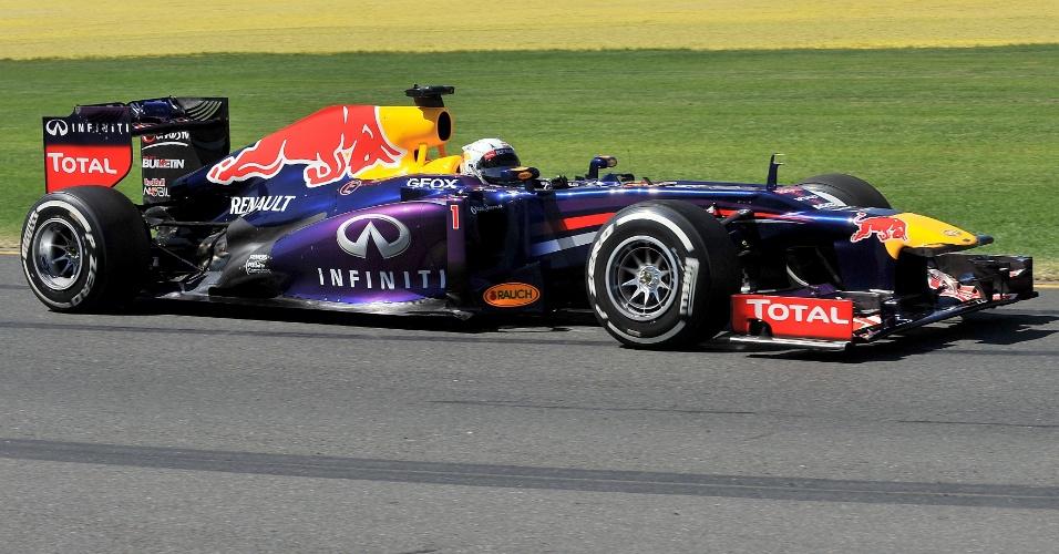 15.mar.2013 - Sebastian Vettel foi o mais rápido dos treinos livres realizados na sexta-feira em Melbourne