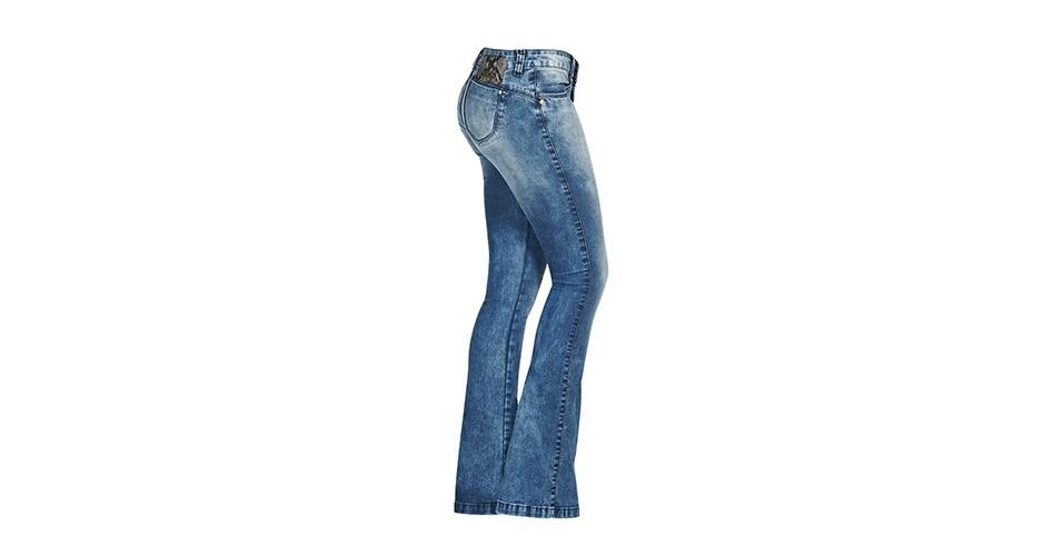 Calça em jeans claro; R$ 150,90, na Lunender (www.lunender.com.br). Preço pesquisado em março de 2013 e sujeito a alterações
