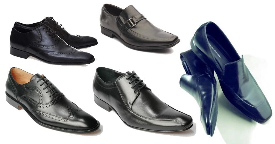 Independente do tipo de terno ou costume que você escolher usar, o versátil sapato preto é o seu melhor complemento