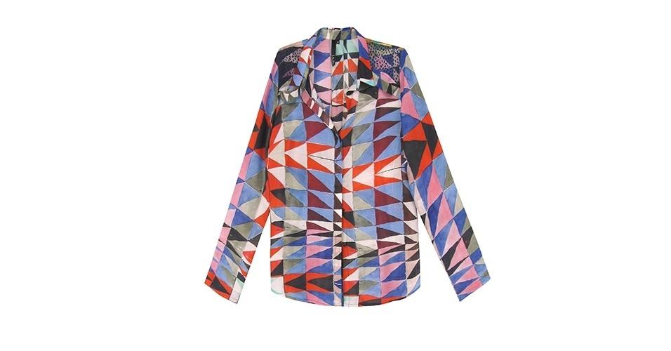 Inspire-se no estilo alegre de Ana Maria Braga com uma camisa estampada multicolorida; R$ 478, na Lilla Ka (www.lillaka.com.br). Preço pesquisado em março de 2013 e sujeito a alterações