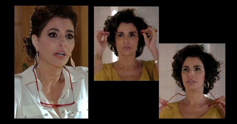 """Na lista dos acessórios mais pedidos pelo público da Globo está o óculos de grau vermelho da personagem Débora (Antônia Frering), da novela """"Salve Jorge"""". O óculos é particular da atriz"""