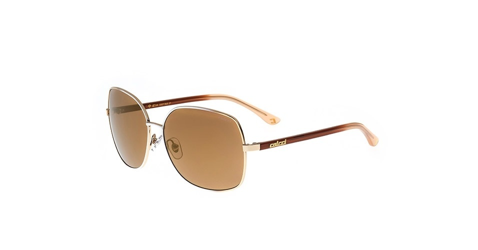 Óculos com lentes marrom; R$ 249, na Colcci (www.colcci.com.br). Preço pesquisado em março de 2013 e sujeito a alterações