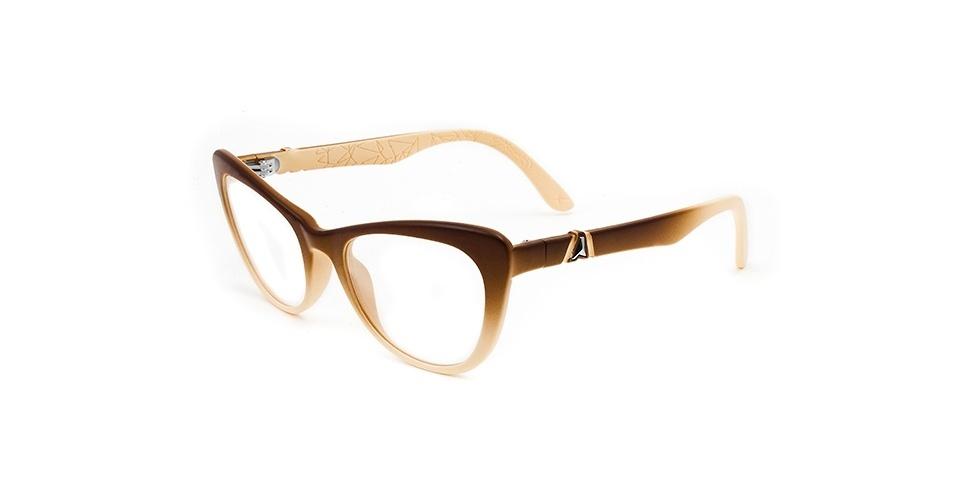 Óculos de grau em tons de bege e marrom; R$ 360, na Absurda (www.absurdaonline.com.br). Preço pesquisado em março de 2013 e sujeito a alterações