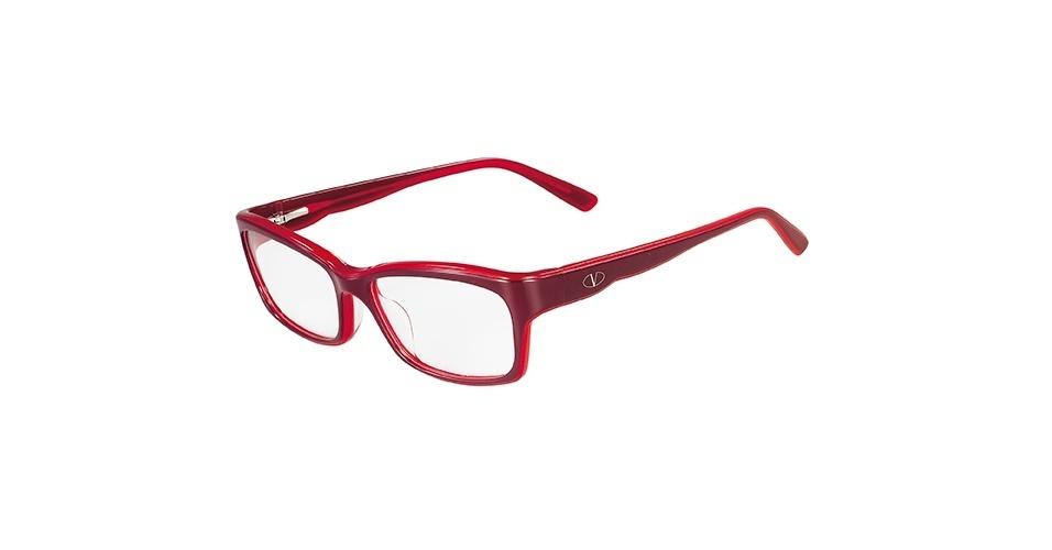 Óculos de grau vermelho e vinho; R$ 709, da Valentino, na Marchon (SAC: 0800-707-1516). Preço pesquisado em março de 2013 e sujeito a alterações