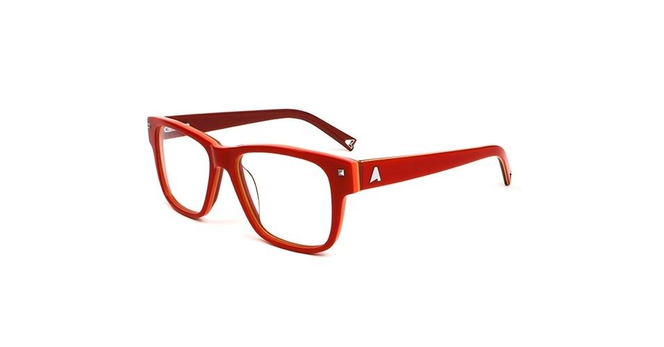 Óculos de grau vermelho quadrado; R$ 330, da Absurda (www.absurdaonline.com.br). Preço pesquisado em março de 2013 e sujeito a alterações