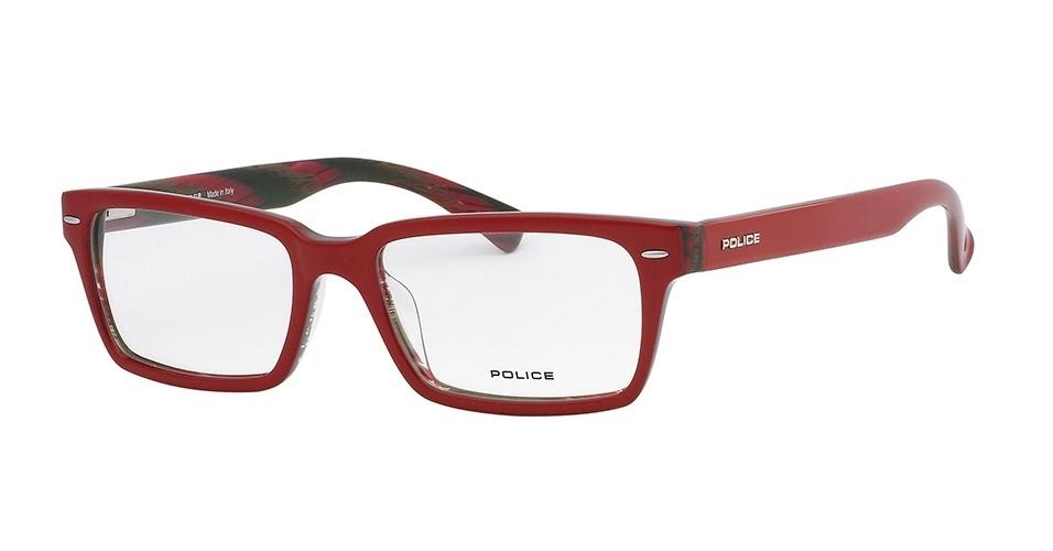 Óculos de grau vermelho; R$ 630, da Police, na Wilvale de Rigo (www.wilvale.com.br). Preço pesquisado em março de 2013 e sujeito a alterações