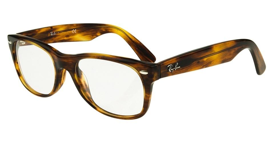 Óculos de tartaruga; R$ 478, da RayBan, na eÓtica (www.eotica.com.br). Preço pesquisado em março de 2013 e sujeito a alterações