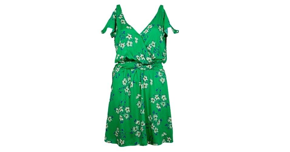 Vestido verde estampado soltinho; R$ 171,29, da Eclectic, na Dafiti (www.dafiti.com.br). Preço pesquisado em março de 2013 e sujeito a alterações