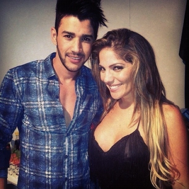 17.mar.2013 - Anamara publica foto com Gusttavo Lima no Twiiter