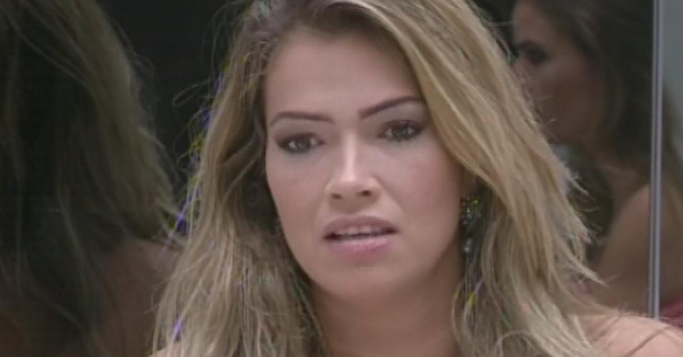 17.mar.2013 - Fani diz que, caso saia, a culpa será dela mesma.