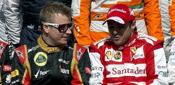 Kimi Raikkonen, da Lotus, pode assumir o posto da Ferrari ocupado por Felipe Massa
