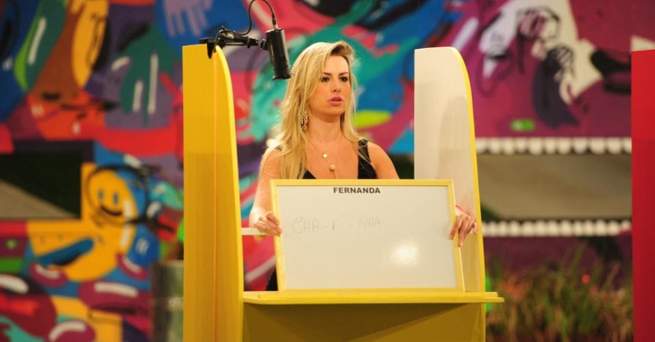 17.mar.2013 - Fernanda participa da 12° prova do líder do