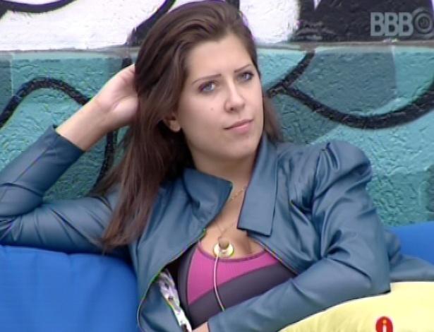 18.mar.2013 - Andressa diz que tem medo de ser julgada fora da casa por conta de seu voto em Fernanda