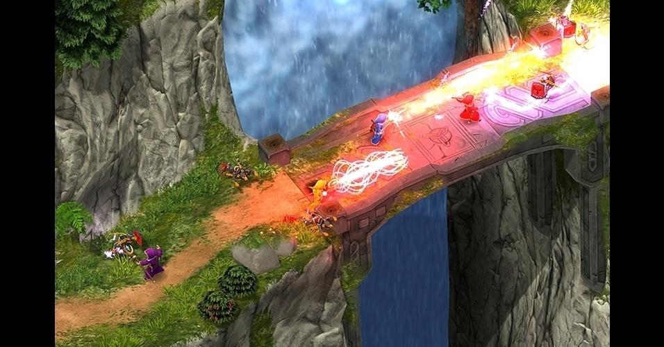 """Em """"Magicka"""" (PC), os jogadores devem combinar dez diferentes elementos básicos para criar poderosos feitiços."""