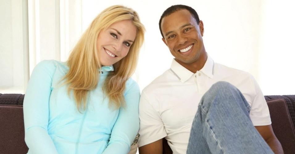 Lindsay Vonn e o golfista Tiger Woods, ex-número um do mundo, assumiram em março de 2013 que estão namorando