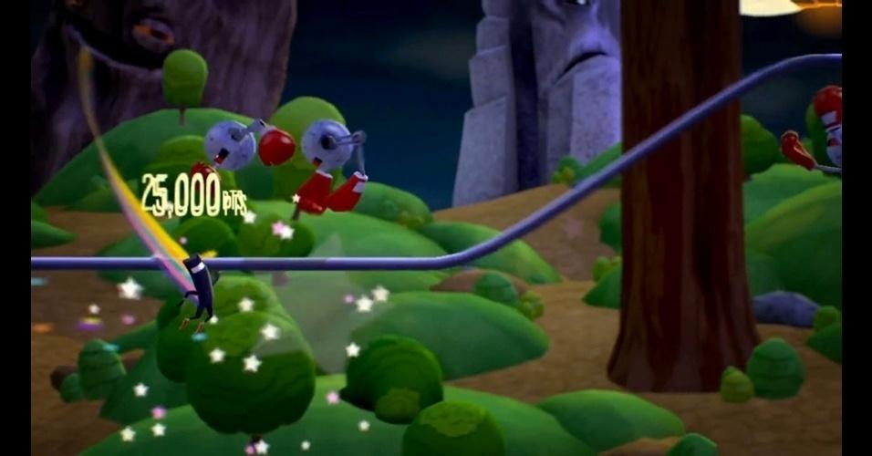 """Misturando plataforma e ritmo, """"Runner2"""" (PC/Wii U/PS3/X360/PSVita) cobra dos jogadores concentração e precisão."""