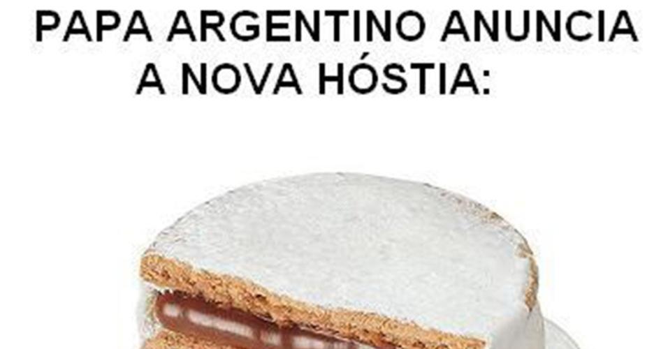 19.mar.2013 - Após a eleição do papa Francisco circula nas redes sociais entre brasileiros esta falsa notícia de que o
