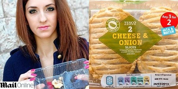 19.mar.2013 - Vegetariana encontra carne estragada em pastel de queijo da rede Tesco, na Inglaterra