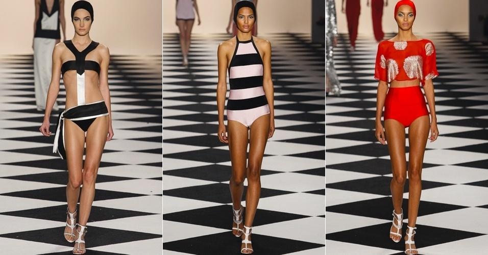 Modelos desfilam looks de Adriana Degreas para o Verão 2014 no SPFW (19/03/2013)