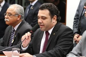 O presidente da Comissão de Direitos Humanos da Câmara, Marco Feliciano (PSC-SP), durante sessão no último dia 20
