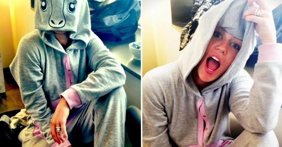 Após o anúncio o fim do noivado com o ator Liam Hemsworth, a cantora Miley Cyrus publica em seu Twittter uma foto em que aparece com o anel de noivado no dedo