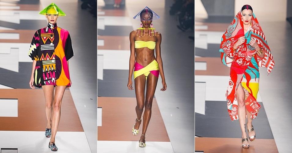Modelos desfilam looks da Neon para o Verão 2014 no SPFW (20/03/2013)