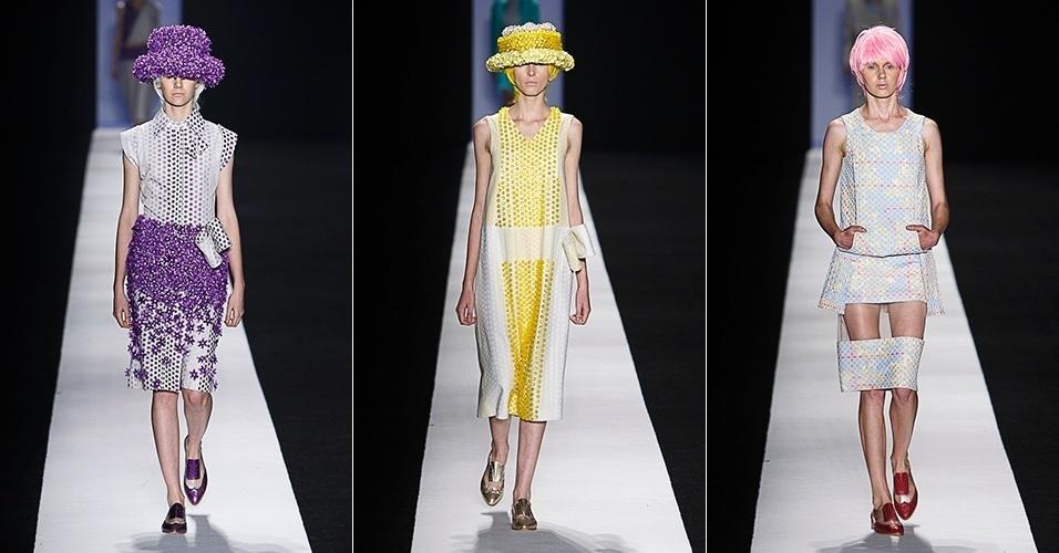 Modelos desfilam looks de Fernanda Yamamoto para o Verão 2014 no SPFW (20/03/2013)