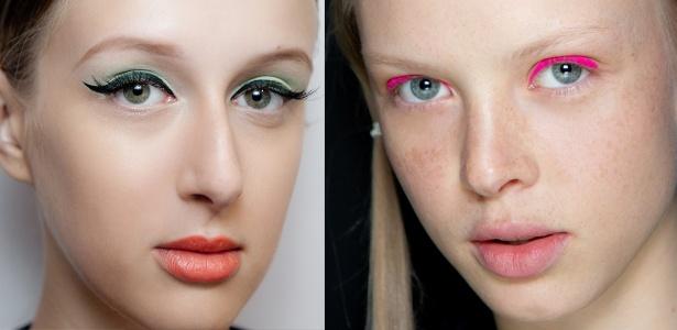 Neon e Triton apostaram na maquiagem colorida para o Verão 2014