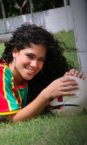 Torcedora do Sampaio Corrêa, Erika Cordeiro se inscreveu no Belas da Torcida 2013