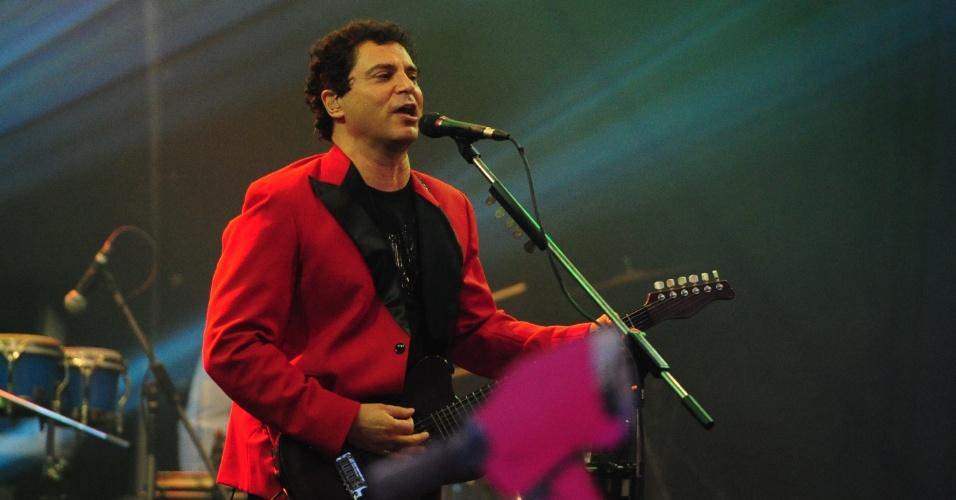 16.jan.2013 - Na semana seguinte, foi a vez do grupo Barão Vermelho se apresentar no quintal dos brothers na festa Retrô