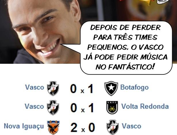 Corneta FC: Vasco perde para três pequenos e pede música no fantástico
