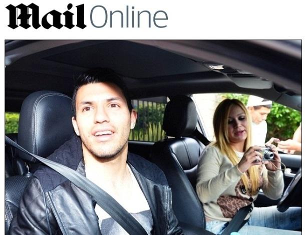 Kun Agüero, ex-genro de Maradona, é visto com Karine Tejeda, cantora e sua nova namorada