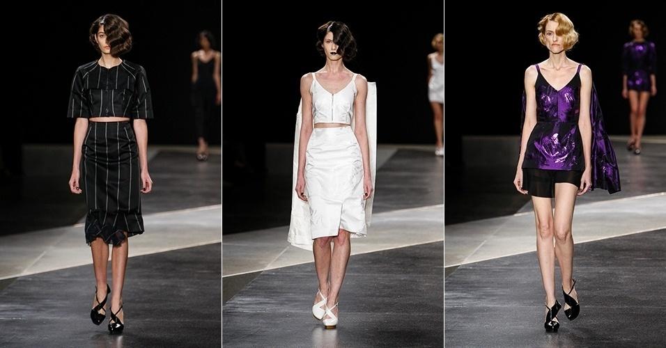 Modelos desfilam looks da Alexandre Herchcovitch para o Verão 2014 no SPFW (21/03/2013)
