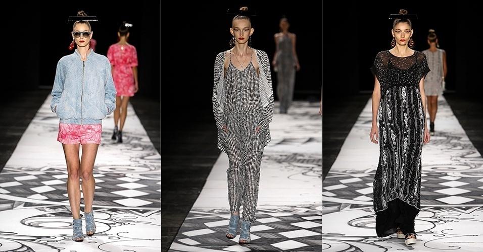 Modelos desfilam looks da Juliana Jabour para o Verão 2014 no SPFW (21/03/2013)