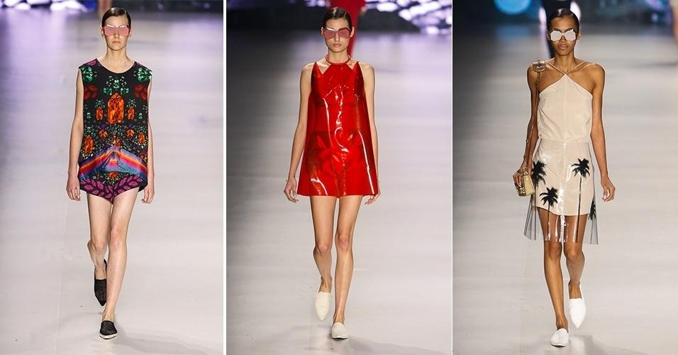 Modelos desfilam looks da Osklen para o Verão 2014 no SPFW (21/03/2013)