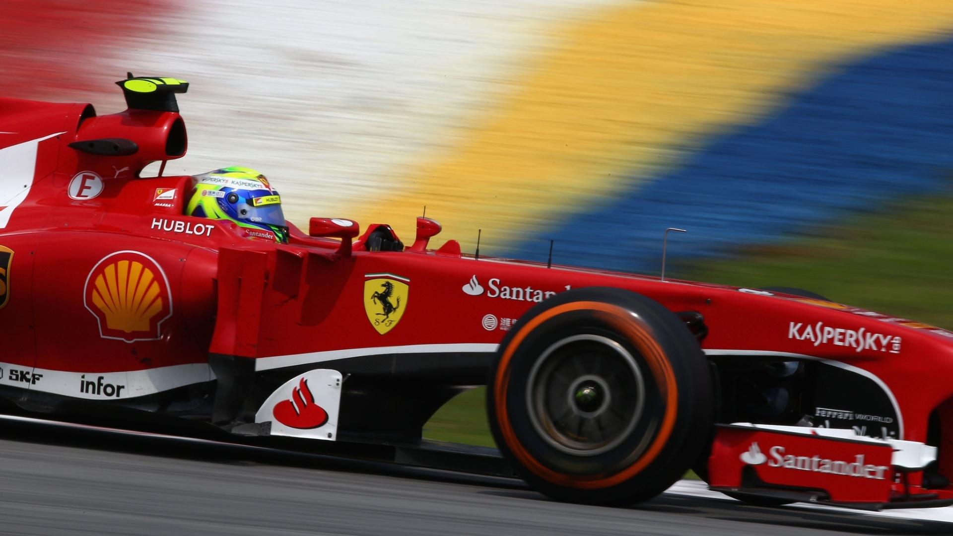 Massa em ação no GP de Sepang, na Malásia. Brasileiro terminou o consolidado do dia na 3ª posição
