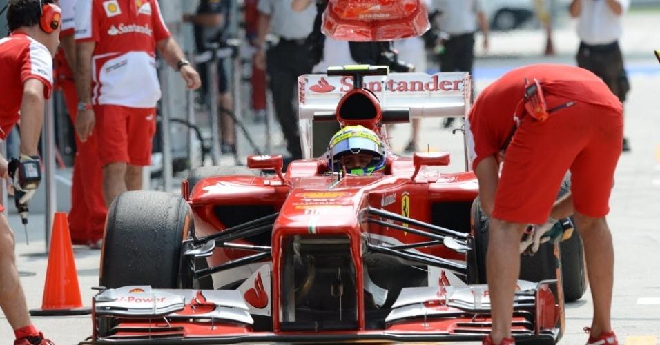 Massa ficou com a sétima melhor performance no primeiro treino para o GP de Sepang e em quarto na segunda sessão. N, na Malásia