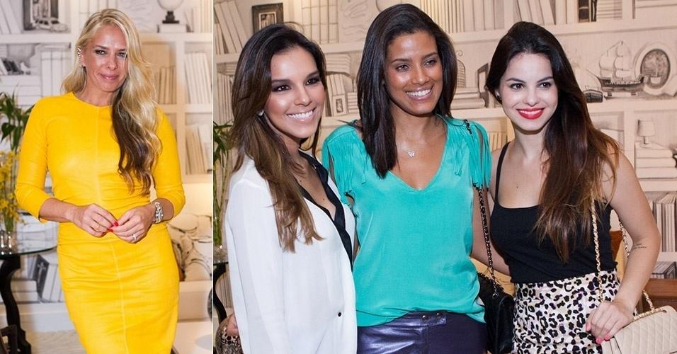 23.mar.2013 - Adriane Galisteu, Mariana Rios, Ildi Silva e Stephany Brito comparecem à inauguração de loja de decoração na Barra da Tijuca, Rio de Janeiro