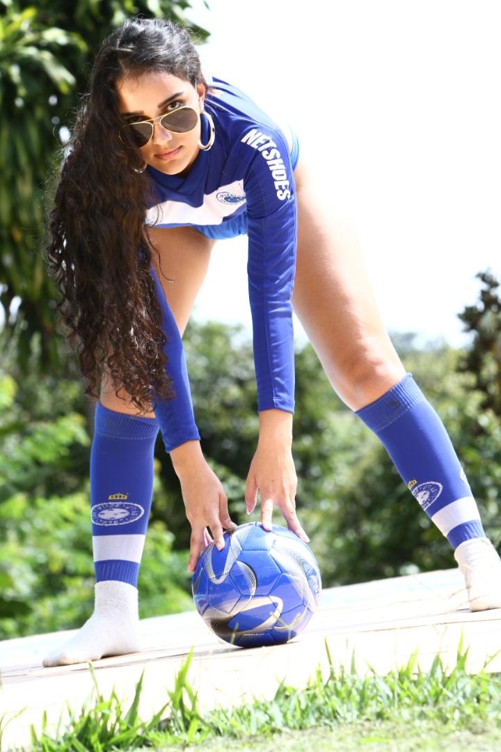 Torcedora do Cruzeiro, Amanda da Silva se inscreveu no Belas da Torcida 2013
