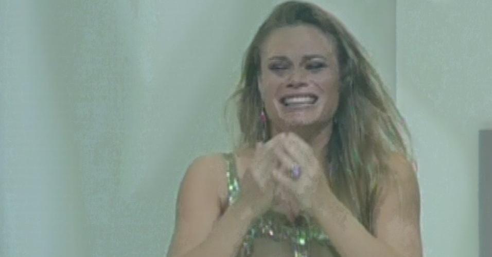 """24.mar.2013 - Natália é a última eliminada do """"BBB13"""", com 66,39% dos votos"""