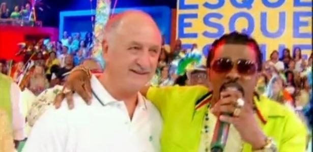 Felipão se acanha no samba em programa da Globo