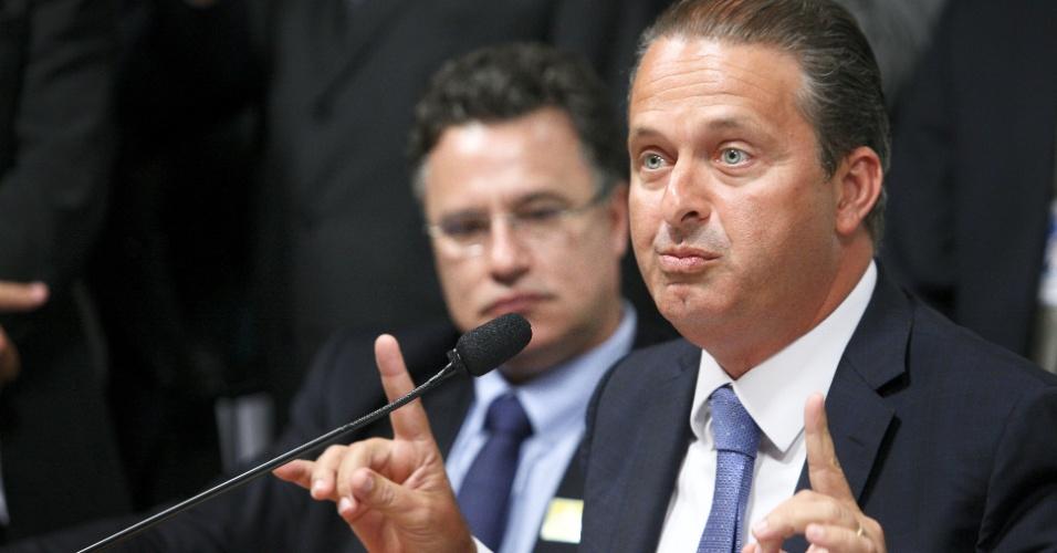 26.mar.2013 - O governador de Pernambuco, Eduardo Campos (PSB), participa de audiência pública na Comissão Mista destinada a examinar e emitir parecer sobre a MP 595/2012, conhecida como MP dos portos