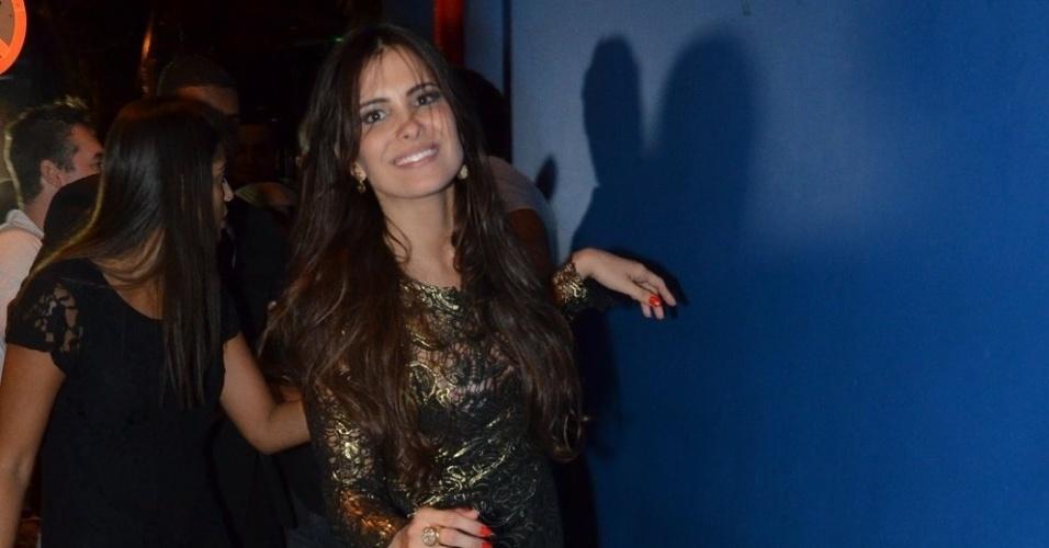 27.mar.2013 - Kamilla chega na festa de encerramento do
